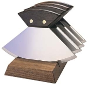 Four 6'' Walnut ULU's Plain
